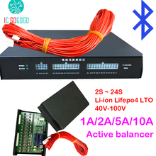 1A 2A 5A 10A Balance Lithium Battery Active Equalizer Bluetooth 2S ~ 24S BMS Li ion Lifepo4 LTO JK Balancer Protection Board 4S