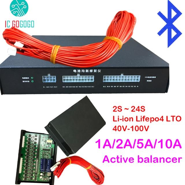 Equalizador ativo bateria de lítio 1a 2a 5a 10a, equilíbrio, bluetooth 2s ~ 24s, bms, íon de lítio, lifepo4, lto jk placa de proteção balanceador 4S