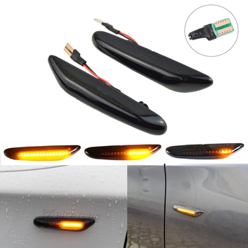 1 Pair 12V Car LED Brake Turn Signal Side Marker Light Indicator Lamp Fit for BMW E82 E88 E60 E61 E90 E91 E92 E93 image
