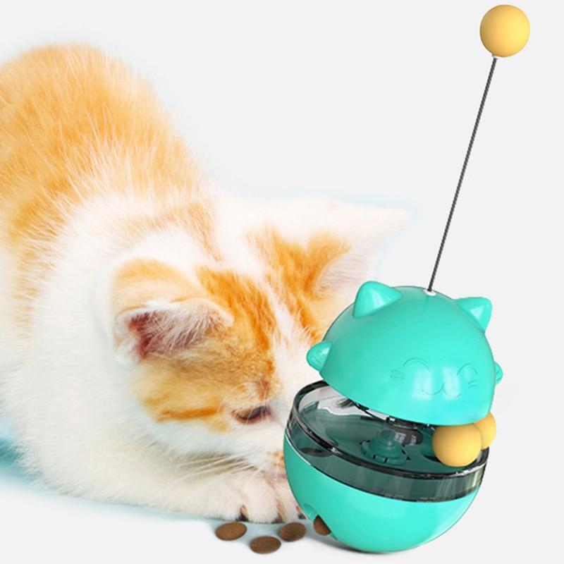 Interactive Cat Food Treat Ball Bowl Cartoon Flexible Convenient Pet Treat Dispenser Funny Pet Shaking Leakage Food Container