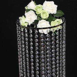 Image 4 - 6pcs/lot  Wedding Ferris wheel crystal ball curtain acrylic beads T road lead main table flower welcoming area decorative