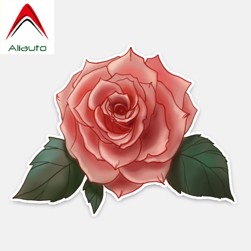 Aliauto Flowers Car Stickers Roses <font><b>Accessories</b></font> Decor Vinyl Decal for <font><b>Smart</b></font> <font><b>Fortwo</b></font> <font><b>451</b></font> Hyundai I40 Bmw E92 Audi B8 ,15cm*11cm image