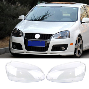 Image 1 - Far camı VW GOLF 5 için MK5 2005 2006 2007 2008 2009 araba ışıkları far kafa lambası kapağı yedek cam far camı