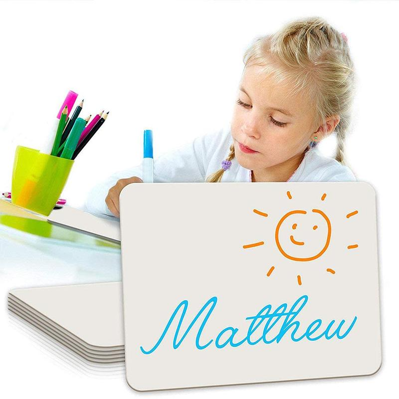 Mini Portable Desktop Wipe Whiteboard Kids Drawing Magnetic Message Board Note Whiteboard