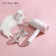 ZHIBAI Anion suszarka do włosów biały kot kształt do temperatury włosów Mi suszarka nadmuchowa do domu suszarka podróżna przenośna tanie tanio Składany uchwyt 1600 W Euro CN (pochodzenie) 210-240 v Podczerwieni Zbieranie Dyszy HL210 123 9*75 3*214 4cm(with nozzle)