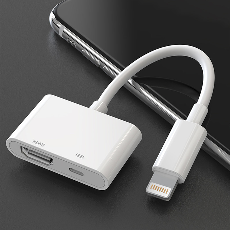 For IPhone To Hdmi Adapter For TV 1080P HD Projector Converter Lightning To HDMI Cable Adapter For IPhone IPad Apple Adapter