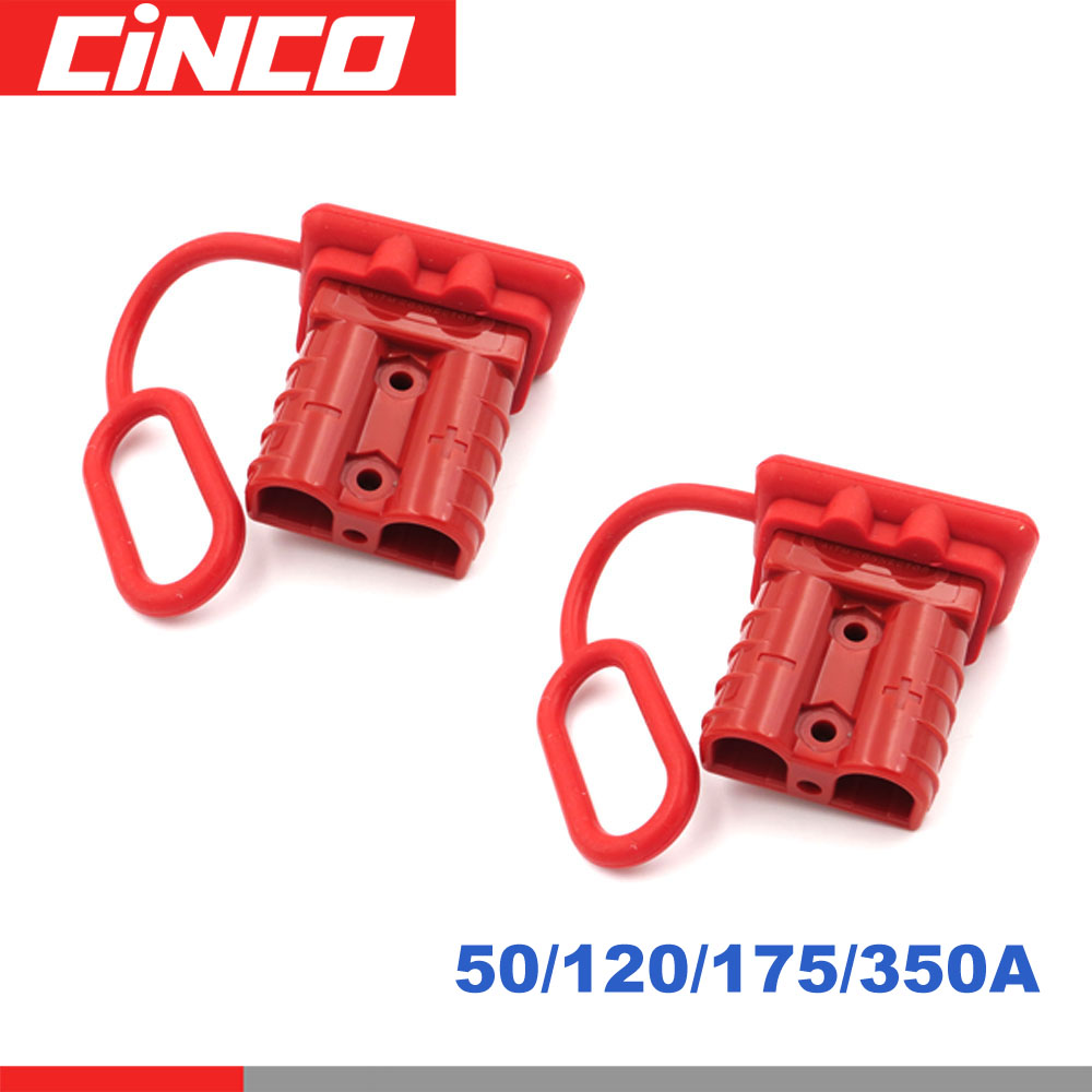 2Set <font><b>50</b></font> <font><b>120</b></font> 175 350 A Battery Trailer Pair Charge Plug Quick Connector Kit Connect Disconnect Winch Electrical Power Cables image