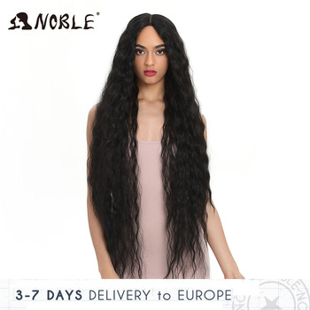 цена на Noble Synthetic Lace Wigs For Black Women Long Curly Hair 42 Inch Cosplay Blonde Ombre Lace Front Wig Synthetic Lace Front Wig