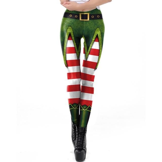 Christmas Leggings Funny Sexy Printed Elastic 6