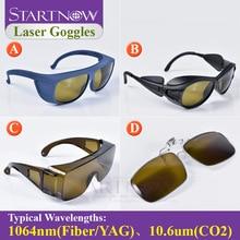 1064nm 10600nm лазерной безопасности Защитные очки щит защитные очки для ИАГ-волокно CO2 лазерной режущая сварочная машина