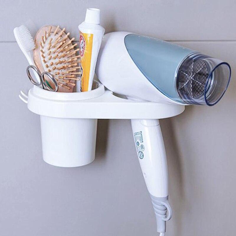 Белый Бесплатная Пробивка без следов полки для ванной настенный стеллаж креативная присоска Тип фен полка для хранения стеллажей