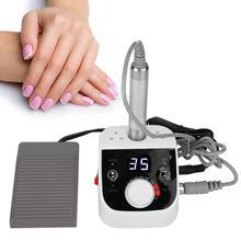 Electric Nail Drill Machine 35000 RPM 80W Nail Grinding Machine Manicure Pedicure Equipment Polishing Dead Skin Callus Remover