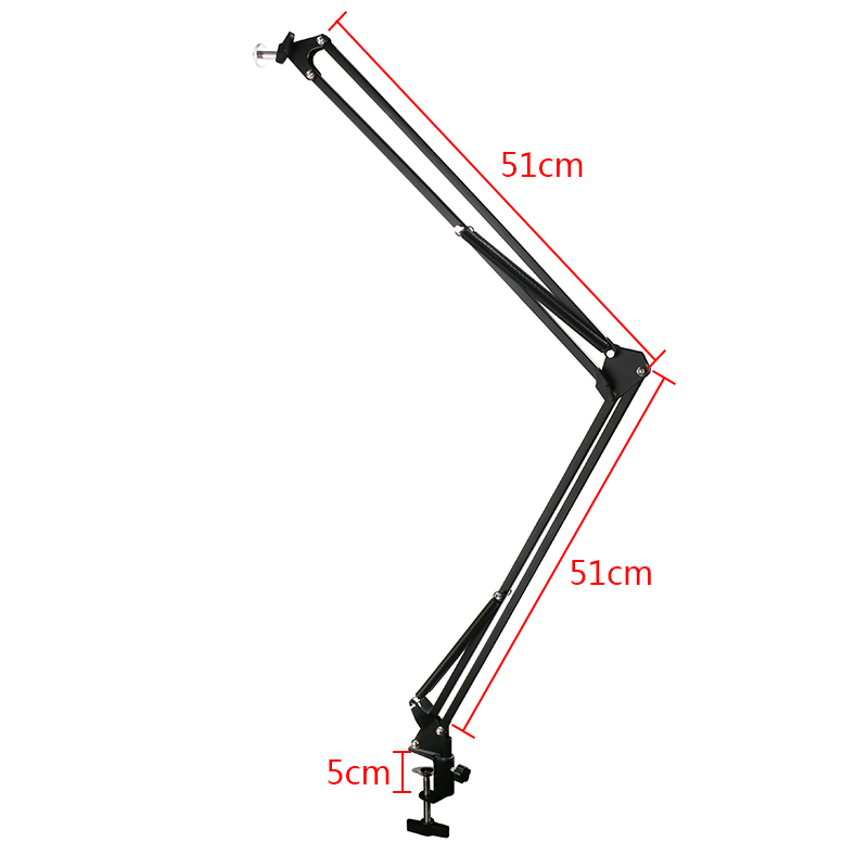 Microscope Video Camera Webcam Desktop Arm Stand Adjustable Boom Table Working Hanger Cantilever Stand Holder 1/4 6mm