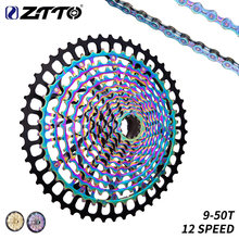 ZTTO MTB XD 12 Speed 9-50T Cassette Ultralight CNC Steel Rainbow Golden 375g Ultimate 12speed Sprocket 1299 k7 Colorful ULT