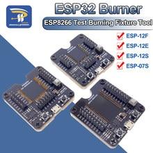 ESP8266 ESP32 ESP-WROOM-32 ESP32-WROVER Downloader Queima Ferramenta de Fixação de Teste Placa De Desenvolvimento para ESP-12F ESP-07S ESP-12S