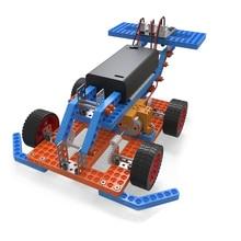 diy electronic kit set Assembled Toy for stem education Belt shifter/tentacle robot/F1 racing car/wind propeller