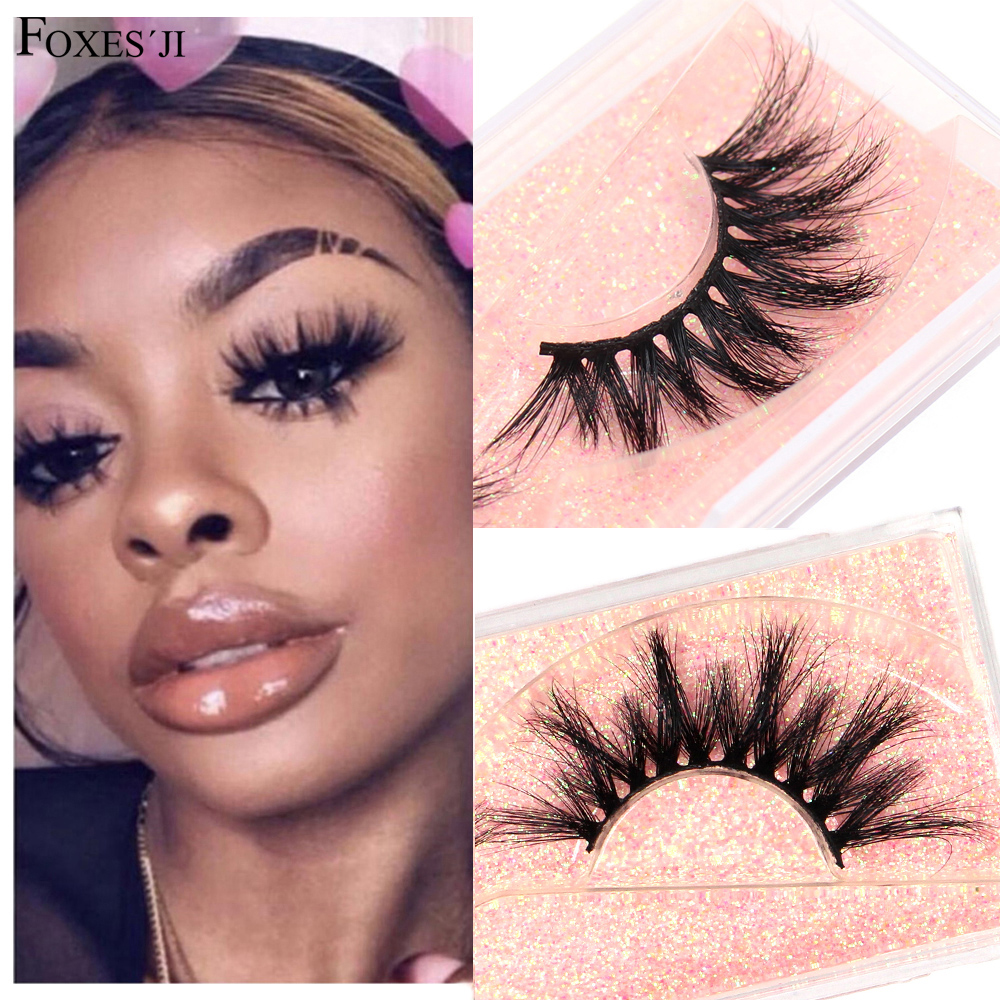 FOXESJI 3D Mink Lashes False Eyelashes Popular Fluffy Cruelty Free Makeup Eyelash Extension Cross Full High Volume Eye Lashes