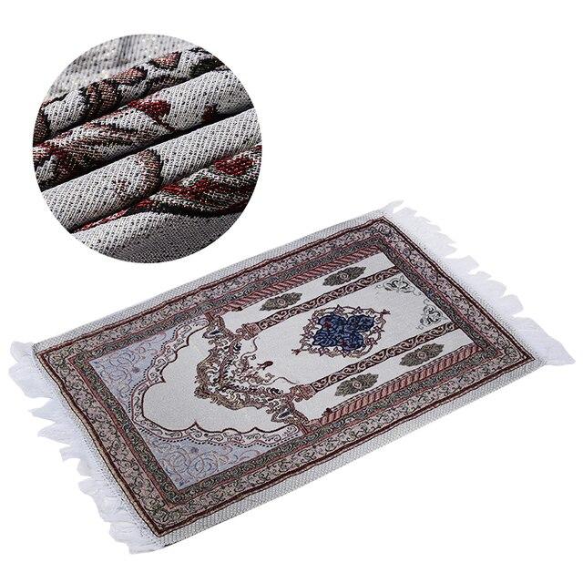 1 sztuka New Arrival muzułmański dywanik do modlitwy dywan modlitewny Salat Namaz islamski styl arabski islamski dywanik modlitewny 27.5*43.3 inch