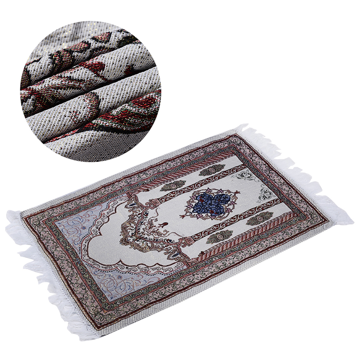 1Piece New Arrival Muslim Prayer Rug Prayer Rug Salat Namaz Islamic Arabian Style Islamic  Prayer Mat  27.5 * 43.3 Inch