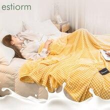 Новое однотонное фланелевое одеяло мягкое и гладкое теплое плюшевое
