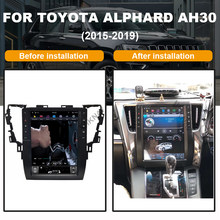 Android 13 zoll auto GPS DVD player für-TOYOTA Alphard AH30 2015-2019 auto GPS radio multimedia player navigation(China)