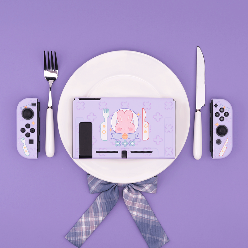 GEEKSHARE Nintend Switch Case Table Fork Rabbit  amp  Cookie Bear  amp  Sweet Beast Hard Cover Back Grip TPU Shell For NS Accessories
