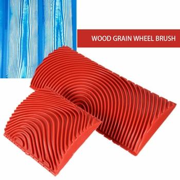 2Pcs Rubber Imitation Wood Graining Tool Paint Roller Brush Wall Texture DIY Brush Art Painting Tool Home Decoration Wall Paint недорого