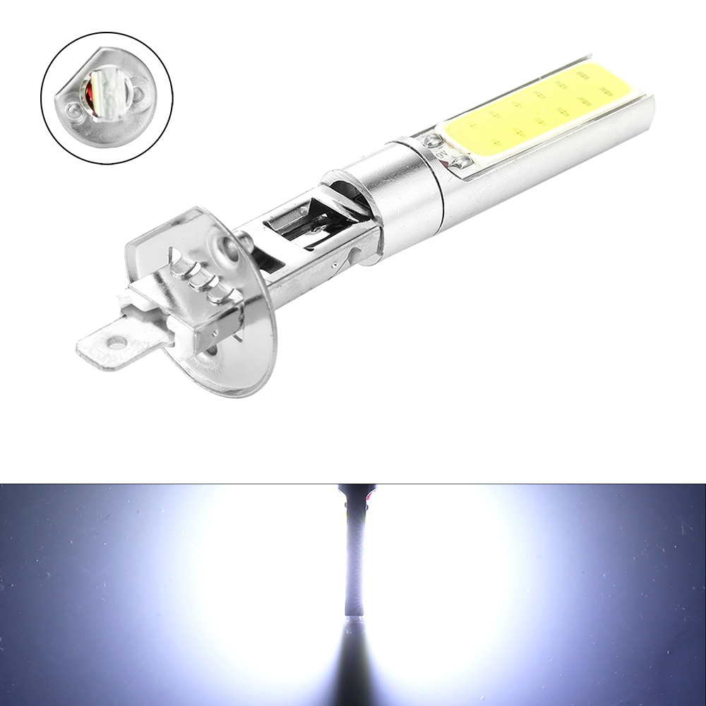 H1 6000K LED Fog Lights Headlight Universal High Quality White COB LED Headlight Hi/Lo Beam Bulbs Driving Lamps