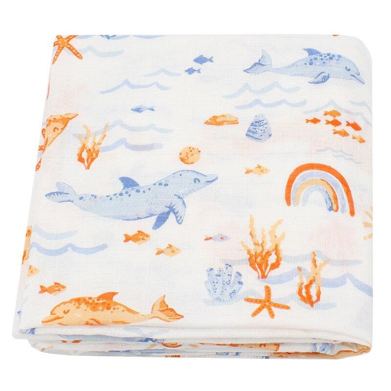 120x120cm Soft Muslin Swaddles Blankets for Baby Newborn Bamboo Cotton Blanket Feeding Cover Blanket Quilt Muslin Diaper