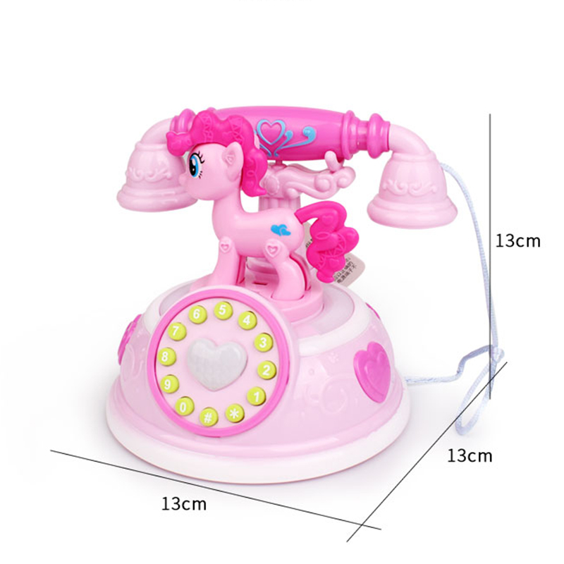 Купить с кэшбэком Retro Children's Phone Toy Phone Early Education Story Machine Baby Phone Emulated Telephone Toys For Children Musical Toys