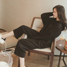 Thickened Sanitary Clothes Suit Womens Autumn New Hat Fashion Leisure Sports Two Suits