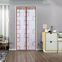 Magnetic Thermal Insulated Door Curtain For Air Conditioner Room/Kitchen Magnetic Screen Anti mosquito Door