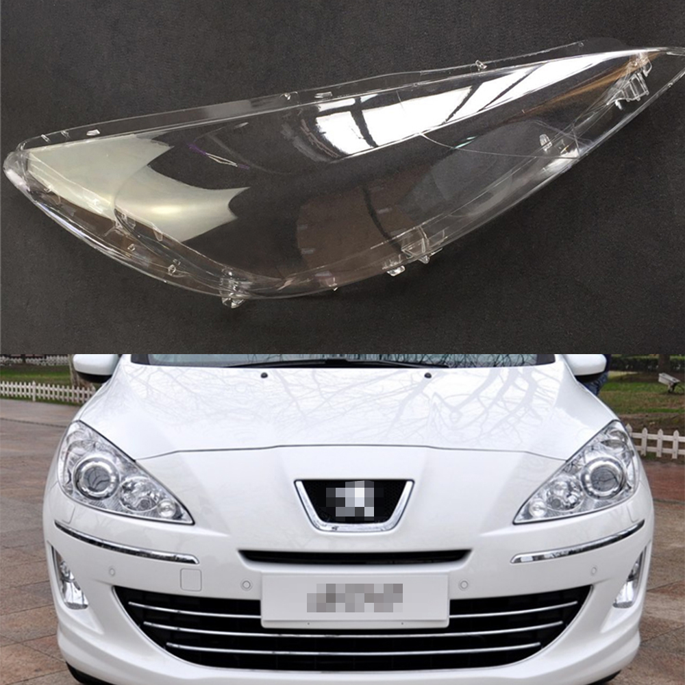 Car Headlight Lens For Peugeot 408 2009 2010 2011 2012 Car Headlight Headlamp  Lens Auto Shell Cover