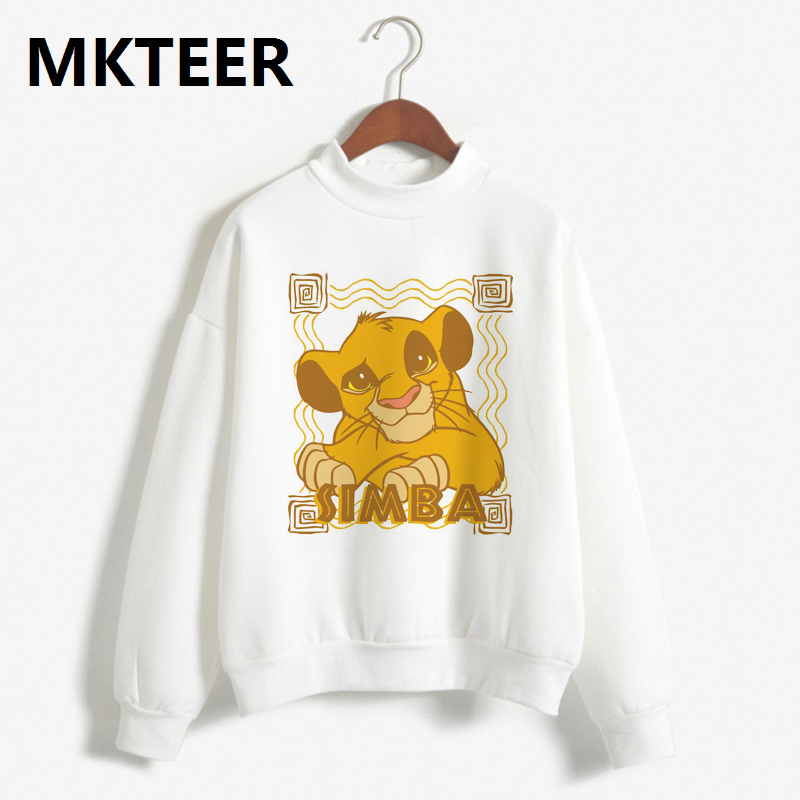 Simba Cub Lion-king Graphic Sweatshirt Fashion Aesthetic Hoodies 2019 Women Pullovers Winter Warm Tops Casual Clothes