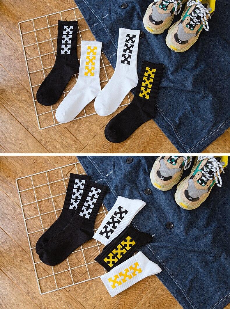 New Men And Women Socks Arrow Cross Hip-hop Tide Socks Harajuku Style For Male And Female Street Skate Socks
