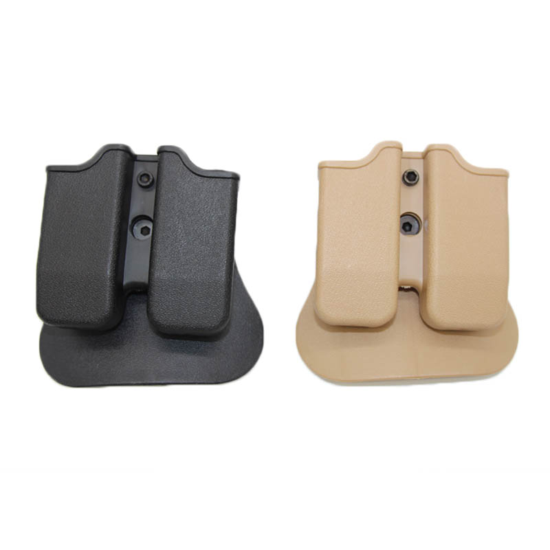 9mm IMI Magazine Pouches for Glock 17 M9 1911 Hunting Holster Quick Double Dual Magazine Mag Tactical Airsoft Paintball Pouches image