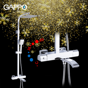 GAPPO brass thermostatic rainfall warm cold water showering faucets bathroom safety warm bath shower mixer G2407-40(China)