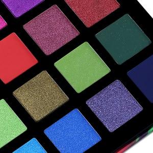 Image 4 - UCANBE זרקור 40 צבע צלליות צבעים צבעוני אמן שמר גליטר מט פיגמנט אבקה לחוץ צלליות ערכת איפור