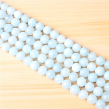 Aquamarine Light 4/6/8/10 mm Natural Stone Bead Round Bead Spacer Jewelry Bead Loose Beads For Jewelry Making DIY Bracelet
