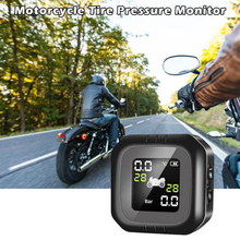 Tire pressure monitor motorcycle waterproof solar external universal tire detection wireless