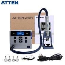 ATTEN ST862D lehimleme İstasyonu 1000W akıllı sıcak hava yeniden işleme istasyonu telefon PCB lehimleme tamir düz rüzgar ve döngüsü