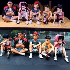 Image 5 - 25 CM Anime SLAM DUNK Sakuragi Hanamichi PVC aksiyon figürleri Rukawa Kaede Akagi Takenori Mitsui Hisashi koleksiyon Model oyuncaklar