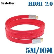 5m-/10m новейший цинковый сплав длинный HDMI 2,0 стандартный штекер-штекер 4K * 2K для LCD DVD HDTV