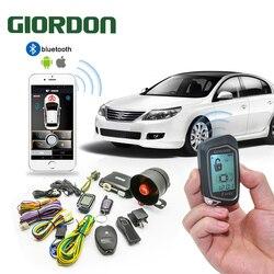 100M kolorowy LCD programowalny wyświetlacz Alarm samochodowy szok ostrzeżenie 2 Way System z zdalny  silnik Start rozrusznik czujnik nachylenia