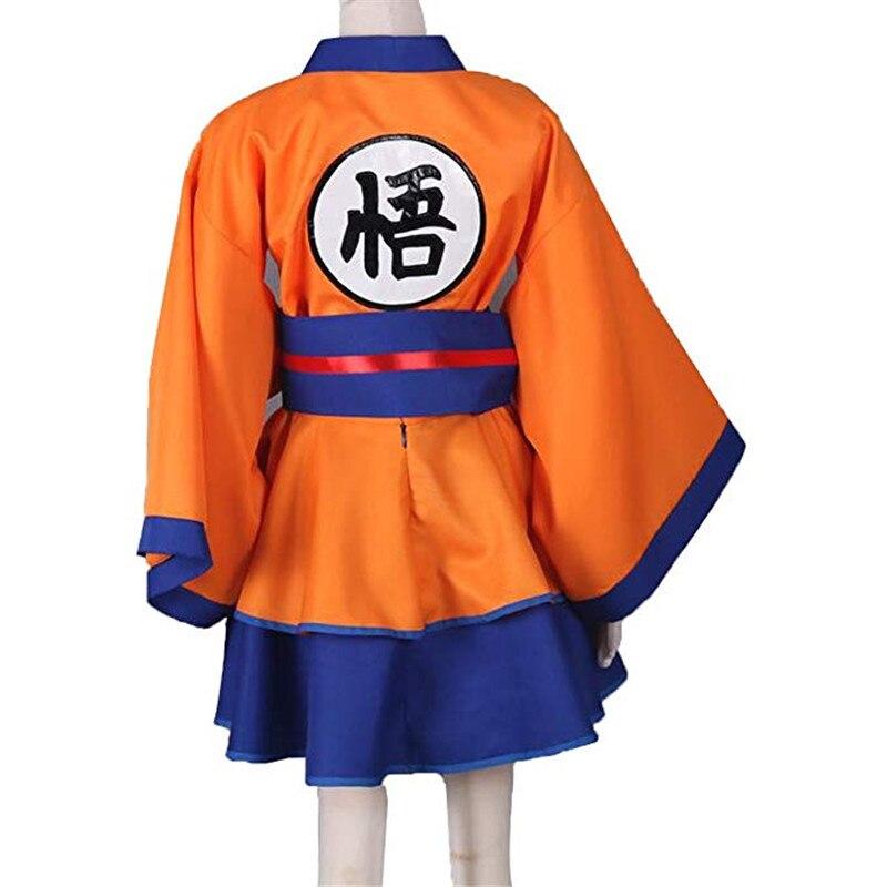 Grande taille xxxl femmes hommes enfant personnage dragon ball Z Son Goku femme Lolita Kimono robe Anime Cosplay Costume Halloween