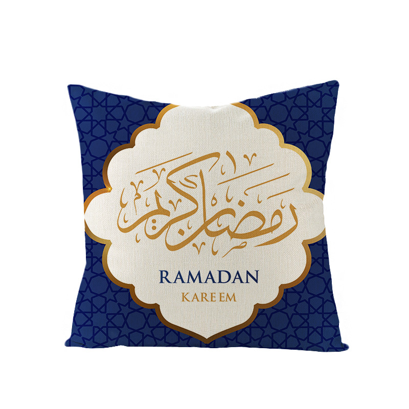 2020 Muslim Ramadan Festival Linen Cushion Cover Home Decorative Islam Style Cushion Cover Pillow Case Eid Ramadan Kareem