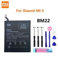 Xiao Mi البطارية الأصلية BM22 كامل 3000mAh ل شاومي Mi 5 Mi5 M5 عالية الجودة الهاتف استبدال بطاريات + أدوات مجانية بطاريات الهاتف المحمول الهواتف المحمولة ووسائل الاتصالات -