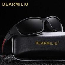 DEARMILIU Fashion Polarized Sunglasses Men Luxury Brand Designer Vintage Driving Sun Glasses Male Goggles Shadow UV400