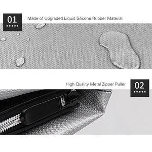 Image 2 - Brandwerende Document Zakken Waterdichte Vloeibare Siliconen Materiaal Warmte Isolatie Grote Capaciteit Veilige Tas Met Rits Voor Bestand Cash
