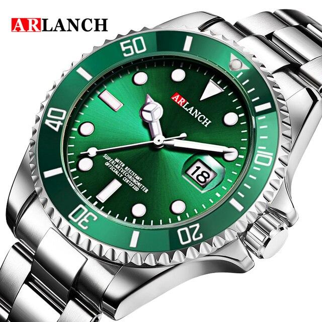 Ouro prata verde água fantasma aço inoxidável marca superior luxo rolexable gmt submariner esporte à prova dwaterproof água clássico relógios masculinos 6